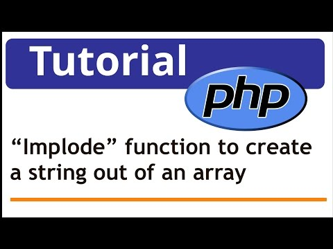 PHP: using implode function to create a string out of an array