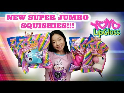 NEW SUPER JUMBO SQUEEZEABLE SQUISHIES BY YOYO LIPGLOSS AVAILABLE AT JUSTICE WALMART WALGREENS TARGET