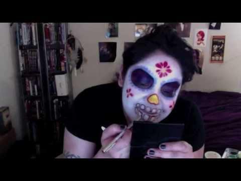 Easy Basic DIY Sugar Skull Make Up Tutorial