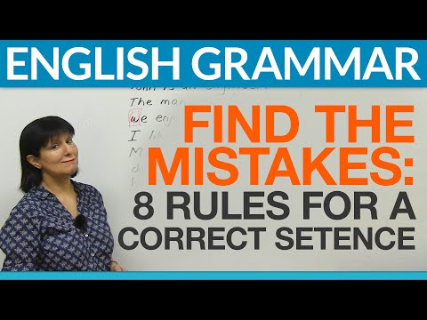 8 English Sentences: Find the Mistakes