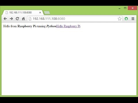 Create a simple custom HTTPServer with Python, on Raspberry Pi