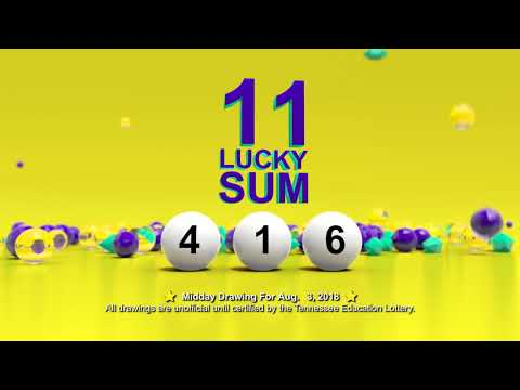 Tennessee Lottery Midday_C3_C4_LS 08/03/2018