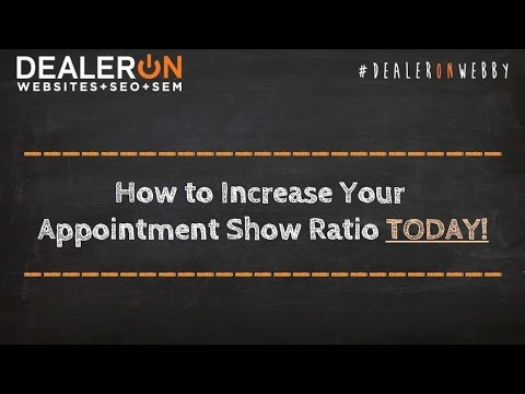 How to Increase Your Appointment Show Ratio TODAY!