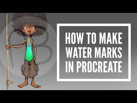 How to Make Watermarks in Procreate