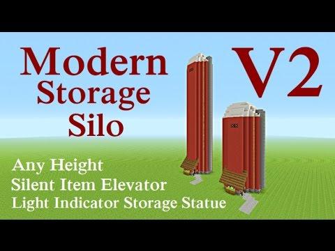 Minecraft Tutorial : Modern Storage Silo System V2