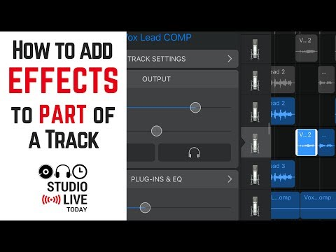 How to add effects to part of a track in GarageBand iOS (iPhone/iPad)