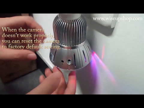 WISEUP WIFI Network LED Bulb Security Camera Complete Operation Instruction (Model Number: WIFI36)