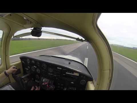 PA-38 Tomahawk landing at Blackpool EGNH
