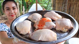 Yummy cooking chicken leg crispy recipe with chili sauce