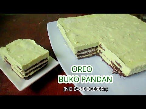 Oreo Buko Pandan No Bake Desserts