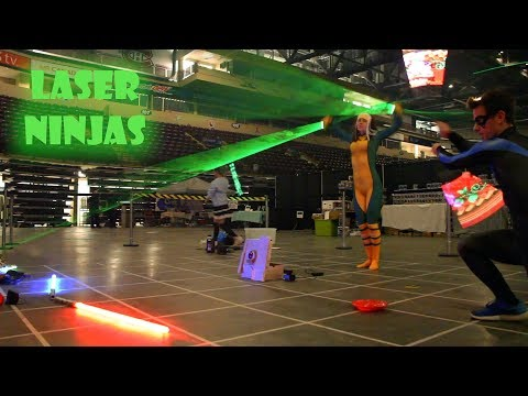 Crazy Cosplay act ft lasers and lights