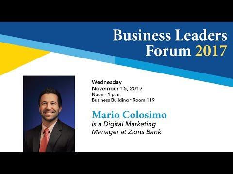 Business Leader Forum -  2017 Fall - Mario Colosimo