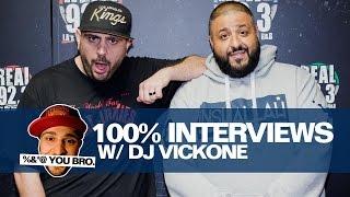 100% Interviews W/ Dj Vick One And Dj Khaled!!!!