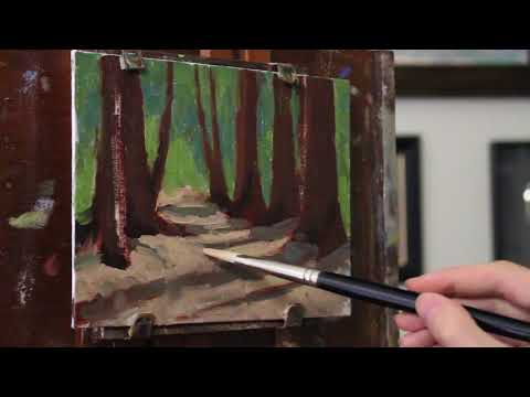 Forest Oil Painting - Time Lapse