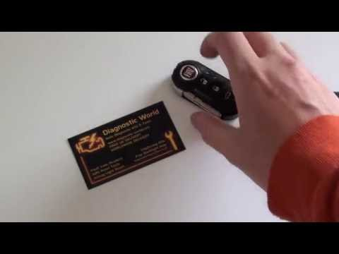 Fiat Car Key Fob Battery Replacement Removal Guide