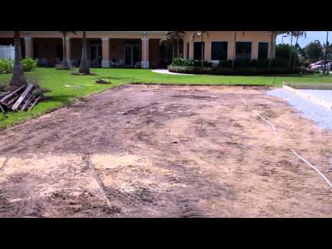bocce ball court wood perimeter installation