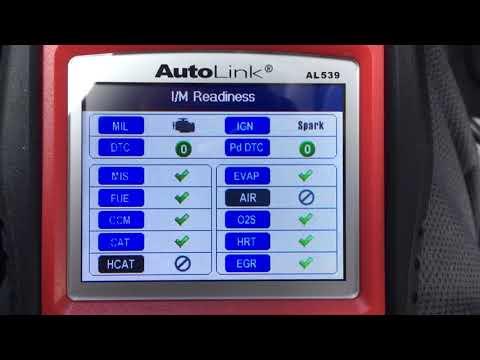 ODBII Multimeter Test - Autolink AL539 B