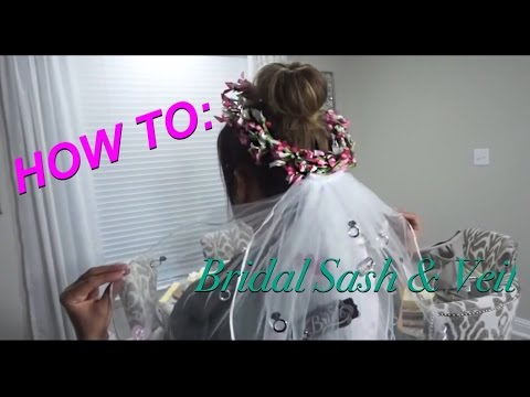 HOW TO: Make a bridal sash and veil | Bachelorette | Bride to Be