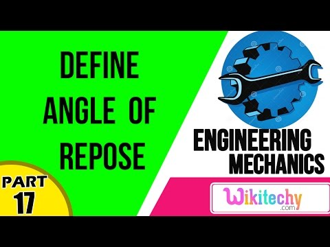 Define angle of repose | Mechanical Engineering Interview questions  and answers