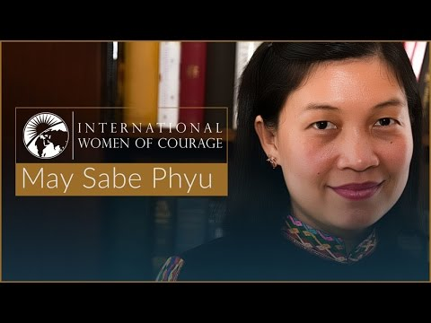 International Woman of Courage May Sabe Phyu
