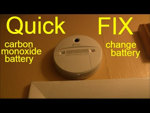 how to change carbon monoxide battery