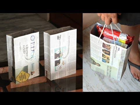 How to Make a Paper Bag with Newspaper - Full Tutorial (Weight Capacity 2KG)