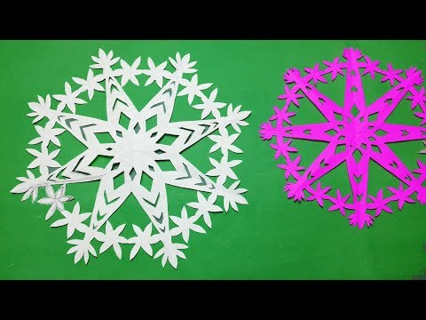 Paper cutting design#How to make paper cutting snowflakes design easy?Kirigami Tutorials.