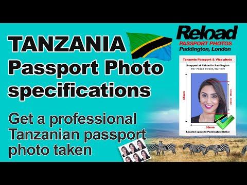 Tanzanian Passport Photo and Visa Photo snapped in Paddington, London