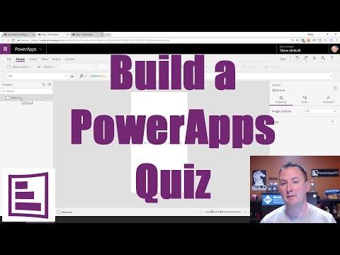 Build a PowerApps Quiz plus intro to controls