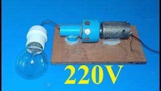 Homemade Free energy 220V electric DC motor generator - DIY