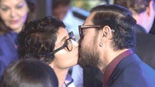 Aamir Khan KISSING Wife Kiran Rao In Public At Mami Film Festival 2016