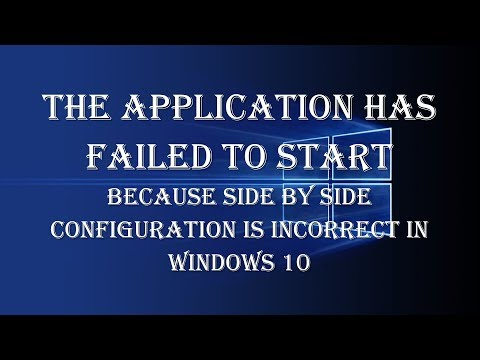 How to Fix Side By Side Configuration Is Incorrect In Windows 10