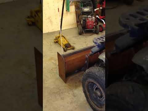 Atv homemade snow plow