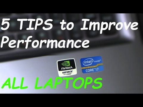5 Tips to Improve Performance on ALL LAPTOPS (MORE FPS)