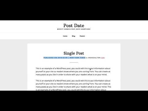 2 Ways To Modify The Genesis post_date Shortcode