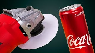 GRINDER VS COCA-COLA | AMAZING CRAFTS WITH ELECTRIC TOOLS