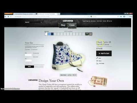Order the Design your own custom Converse Internationally