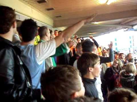 Blackpool Fans Away At Birmingham