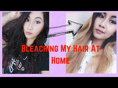 GOING FROM BLACK TO BLONDE AT HOME // BLEACHING OVER COCONUT OIL 🌼 (IN DEPTH )