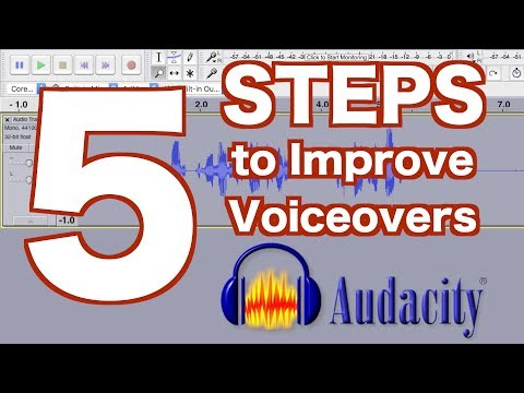 5 STEPS to Improve Your VOICEOVER in Audacity