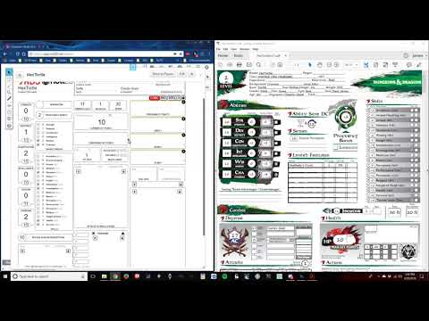 Making an AL Character Sheet on Roll 20 using MPMB's Character Sheet Part 1