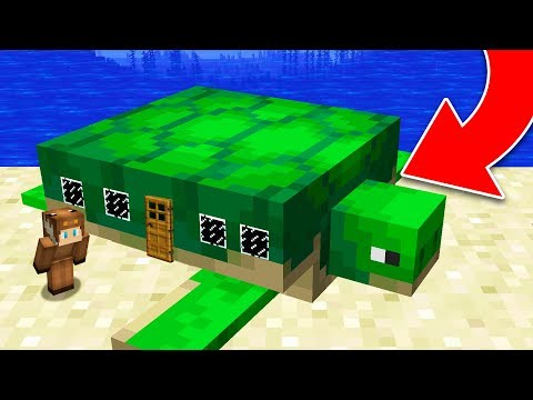 HOW TO LIVE INSIDE A TURTLE IN MINECRAFT!