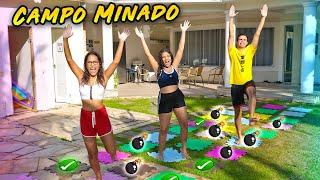 DESAFIO DO CAMPO MINADO NA MANSÃO! - (ÉPICO) - KIDS FUN