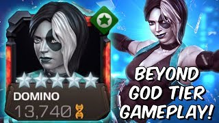 5 Star Domino Beyond God Tier Act 6 & Variant Gameplay - Marvel Contest of Champions