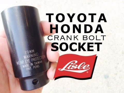 Lisle 77080 Socket | Honda & Toyota Crank Bolt Socket | 19mm Weighted Harmonic Balancer Impact
