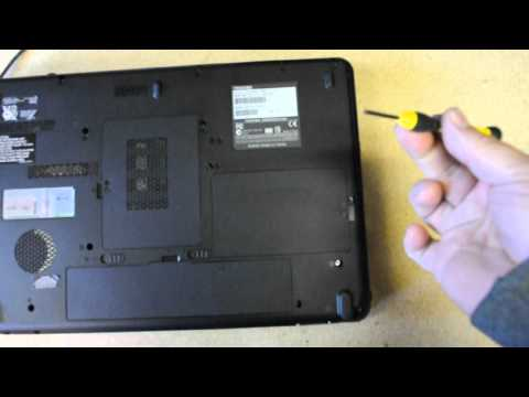 Toshiba Satellite L505D how to take hard drive out