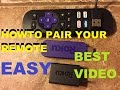 How To Pair Your Roku Remote (Best Video)