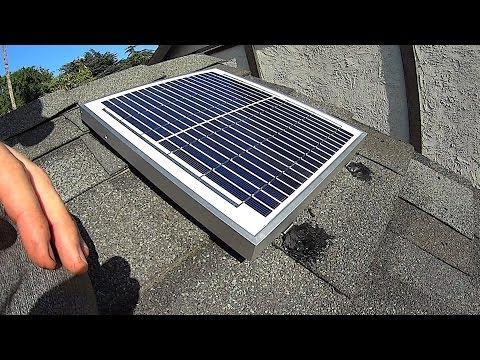 Solar Gable Fan Install