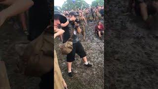 Festival Mud Slip and Slide  || ViralHog