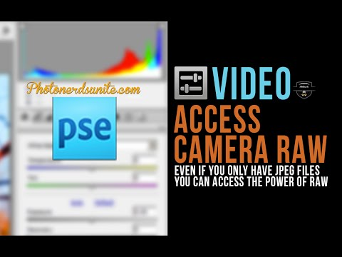 How to open a JPEG file in Photoshop Elements Adobe Camera RAW